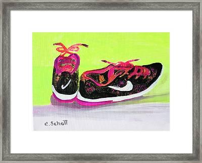 My Comfy Shoes Framed Print