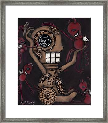 My Conscience Framed Print by  Abril Andrade Griffith