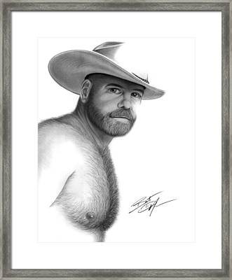 My Cowboy Framed Print by Brent  Marr