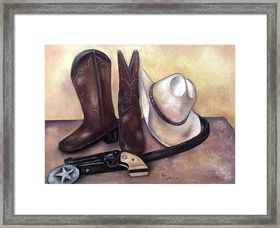 My Cowboy's Home Framed Print