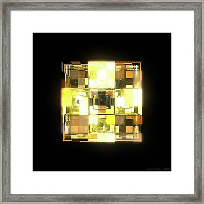 My Cubed Mind - Frame 001 Framed Print