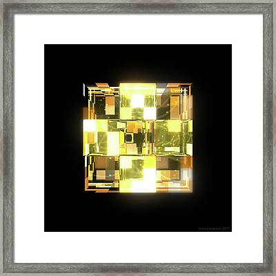 My Cubed Mind - Frame 019 Framed Print