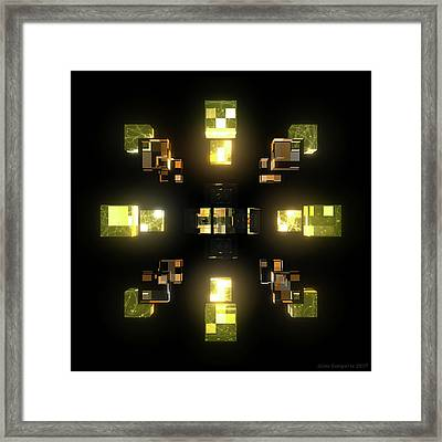 My Cubed Mind - Frame 100 Framed Print