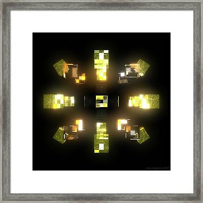 My Cubed Mind - Frame 172 Framed Print