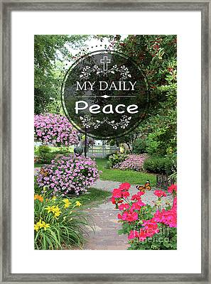 My Daily Peace Framed Print