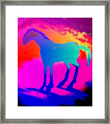 He Is My Darling And He Trots The Air For My Sake  Framed Print