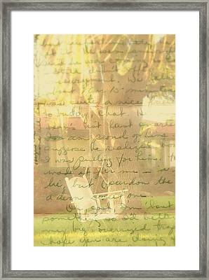 My Dear John Framed Print