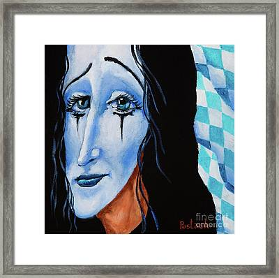 Framed Print featuring the painting My Dearest Friend Pierrot by Igor Postash