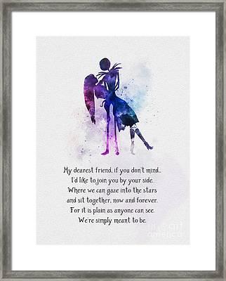 My Dearest Friend Framed Print