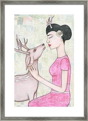 My Deer Framed Print by Natalie Briney