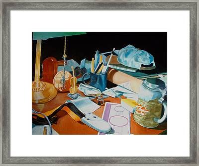 My Desk Framed Print by Michael Henderson