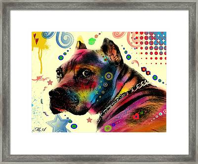 My Dog Framed Print by Mark Ashkenazi