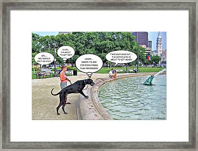 My Dog Tiny Framed Print by Brian Wallace