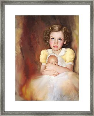Framed Print featuring the photograph My Dolly by Bonnie Willis