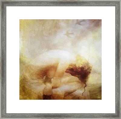 Framed Print featuring the digital art My Dreams Fly Away by Gun Legler