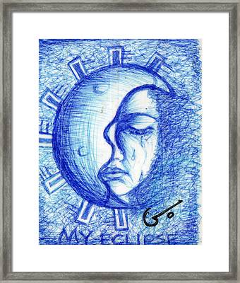 My Eclipse Framed Print by Agatha Green