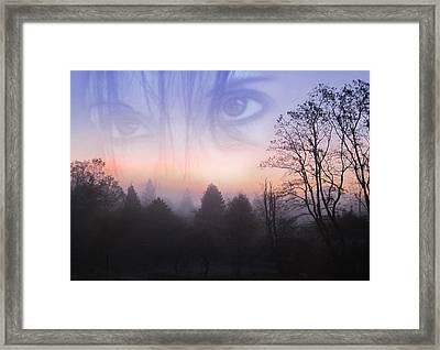 My Emotive Landscape - Self Portrait Framed Print by Jaeda DeWalt