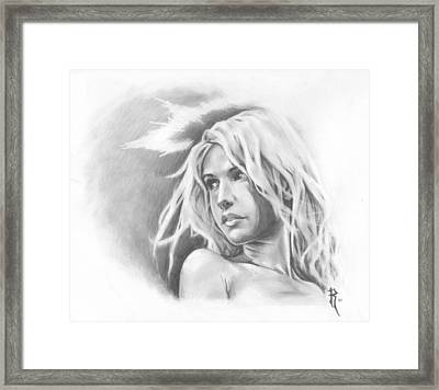My Ethereal Angel Framed Print by Ronald Barba