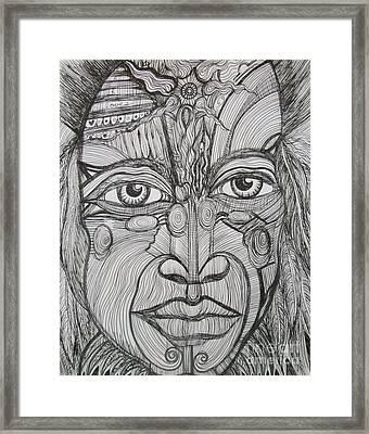 My Eyes Speak The Truth Framed Print by Anita Wexler