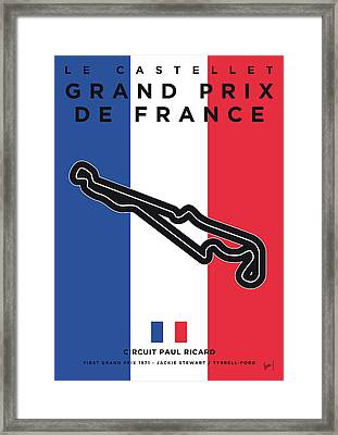 My F1 France Race Track Minimal Poster Framed Print