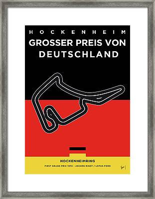 My F1 Germany Race Track Minimal Poster Framed Print