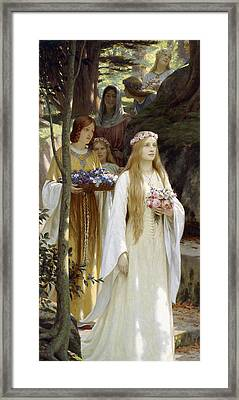 My Fair Lady Framed Print by Edmund Blair Leighton
