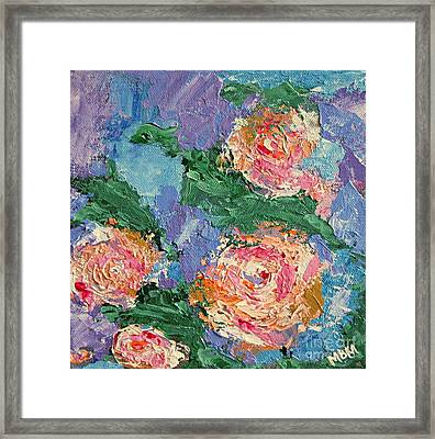 My Father's Roses Framed Print