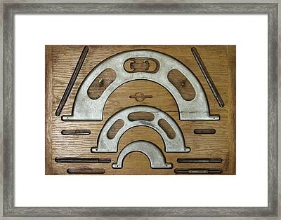 My Fathers Tools Framed Print