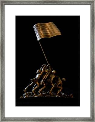 My Father's Valor - A Hard Act To Follow Framed Print