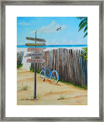 My Favorite Beaches Framed Print
