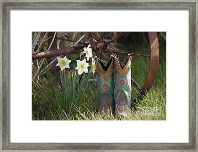 My Favorite Boots Framed Print by Benanne Stiens