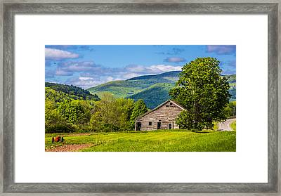 Framed Print featuring the photograph My Favorite Cabin In The Rolling Mountains by Paula Porterfield-Izzo