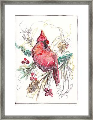 My Favorite Cardinal Framed Print by Michele Hollister - for Nancy Asbell