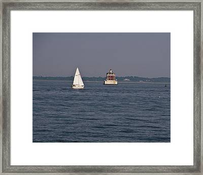 My Favorite Lighthouse Framed Print by Gerald Mitchell