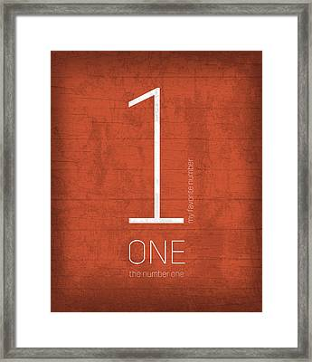 My Favorite Number Is Number 1 Series 001 One Graphic Art Framed Print by Design Turnpike