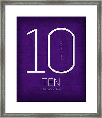 My Favorite Number Is Number 10 Series 010 Ten Graphic Art Framed Print by Design Turnpike