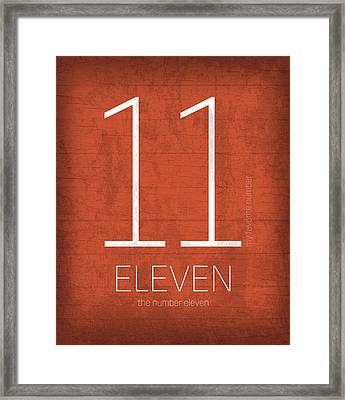 My Favorite Number Is Number 11 Series 011 Eleven Graphic Art Framed Print by Design Turnpike