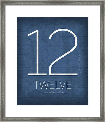 My Favorite Number Is Number 12 Series 012 Twelve Graphic Art Framed Print by Design Turnpike