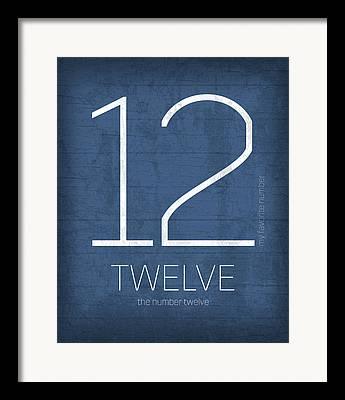 Number 12 Framed Prints