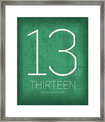 My Favorite Number Is Number 13 Series 013 Thirteen Graphic Art Framed Print by Design Turnpike