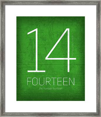 My Favorite Number Is Number 14 Series 014 Fourteen Graphic Art Framed Print