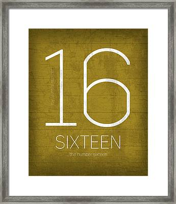 My Favorite Number Is Number 16 Series 016 Sixteen Graphic Art Framed Print by Design Turnpike