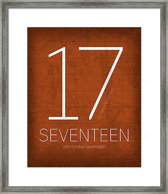 My Favorite Number Is Number 17 Series 017 Seventeen Graphic Art Framed Print