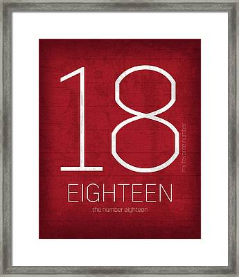 My Favorite Number Is Number 18 Series 018 Eighteen Graphic Art Framed Print by Design Turnpike