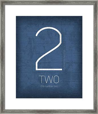 My Favorite Number Is Number 2 Series 002 Two Graphic Art Framed Print by Design Turnpike