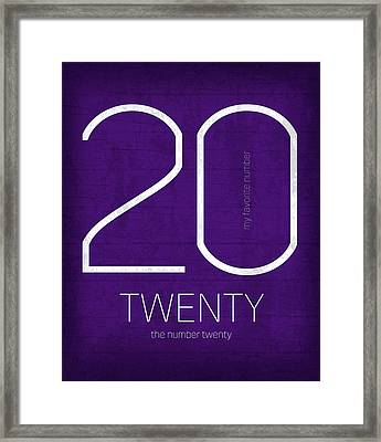 My Favorite Number Is Number 20 Series 020 Twenty Graphic Art Framed Print by Design Turnpike