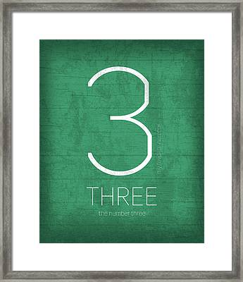 My Favorite Number Is Number 3 Series 003 Three Graphic Art Framed Print by Design Turnpike