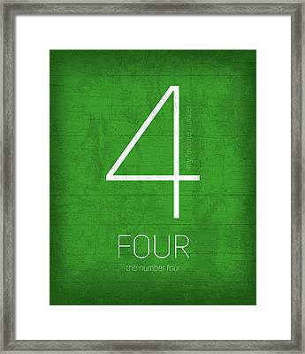 My Favorite Number Is Number 4 Series 004 Four Graphic Art Framed Print by Design Turnpike