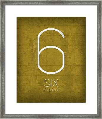 My Favorite Number Is Number 6 Series 006 Six Graphic Art Framed Print by Design Turnpike