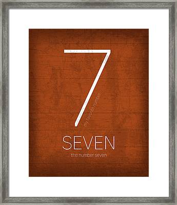My Favorite Number Is Number 7 Series 007 Seven Graphic Art Framed Print by Design Turnpike